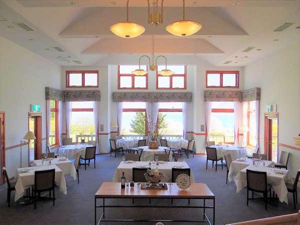 洞爺湖を望むレストラン