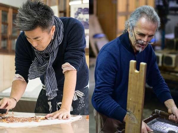 日本とフランスの職人が造るギルディング和紙
