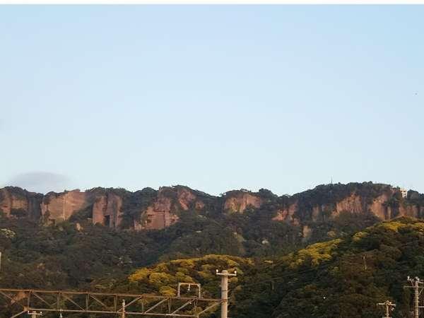 villaはまかなやから見える午後の鋸山