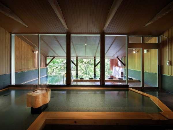深緑の大浴場(樹來の湯)正面アングル