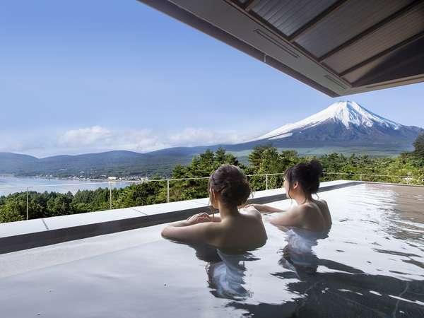 【富士山と湖を望むリゾート ホテルマウント富士】富士山と山中湖を一望!絶景露天風呂もある充実のリゾート施設