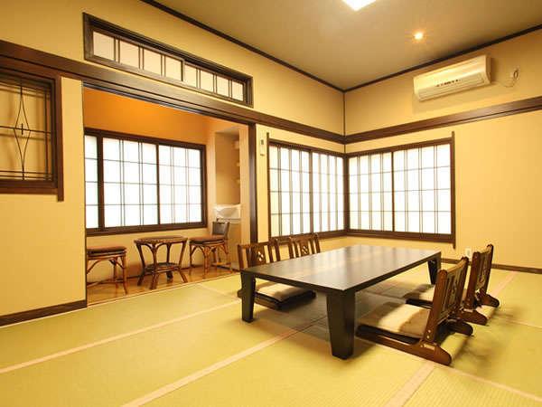 コーナータイプ【和室10畳】洗浄機能トイレ付のお部屋■眺望抜群