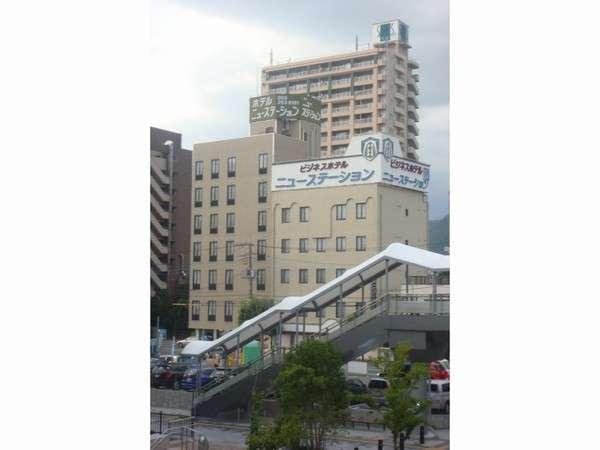 甲府駅北口の目の前の立地