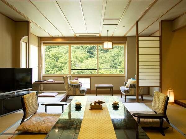 【札幌の杜 定山渓】全室から定山渓の渓谷美を堪能できる客室、温泉街の一等地ならではの贅沢