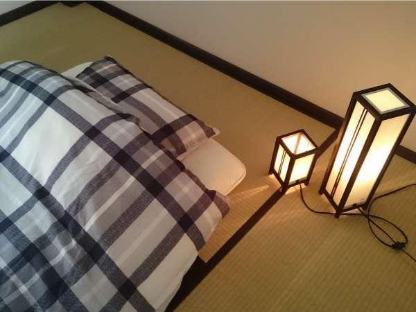寝具は布団です