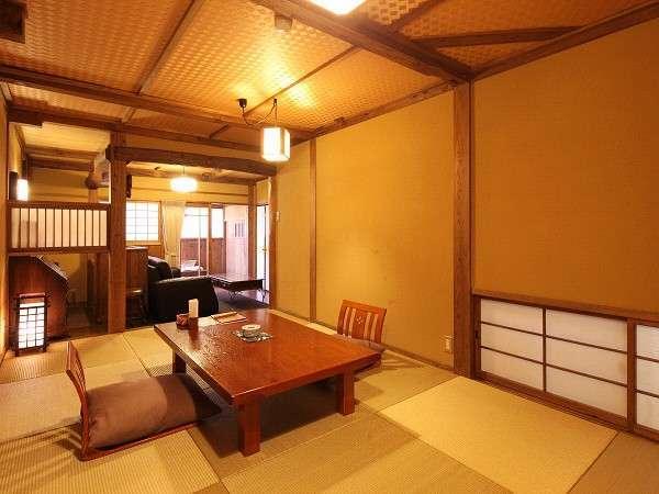 【客室/温泉付き和室】ご常連様からの指定が多い人気のお部屋です。当館の客室風呂では一番の広さです
