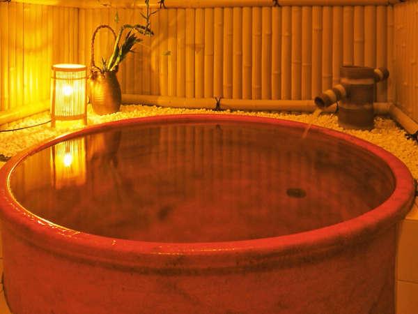 信楽焼きの飴色陶器風呂(貸切)24時間入浴OK
