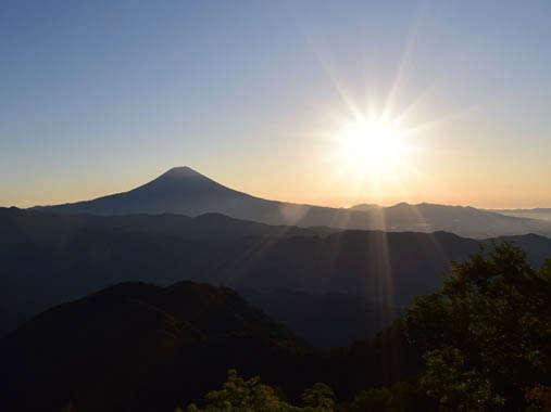 安倍峠~バラの段からの富士山