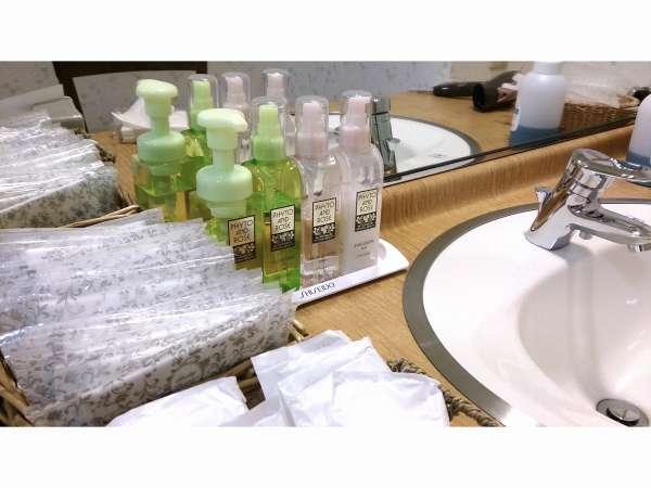 【浴場施設】クレンジング・化粧水・乳液の基礎化粧品完備