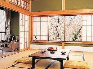 眺めのよい客室。お庭を散歩できます。