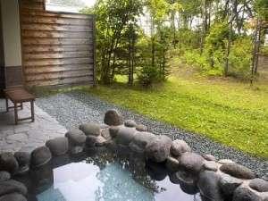 庭園調の広々としたお風呂がある露天風呂付和洋室禁煙