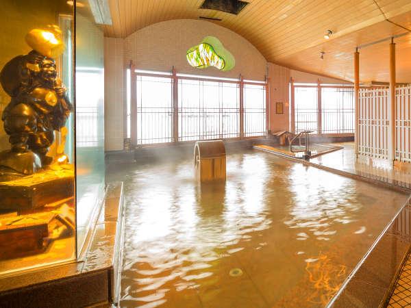福の神が微笑む大浴場は、『入れば運気が上がるかも!』ただし入り過ぎには注意です☆