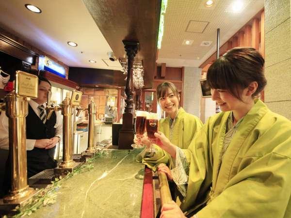 緑水亭ならではのお楽しみ!「麦酒家(び~るや)」で「オリジナルビールかがりび」をどうぞ♪