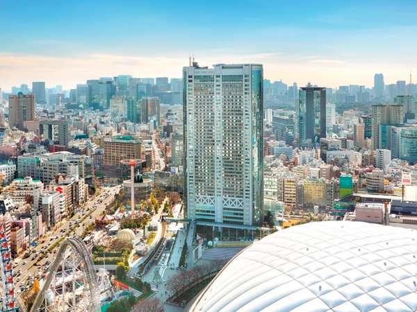 東京ドームシティにそびえる地上43階建ての東京ドームホテル