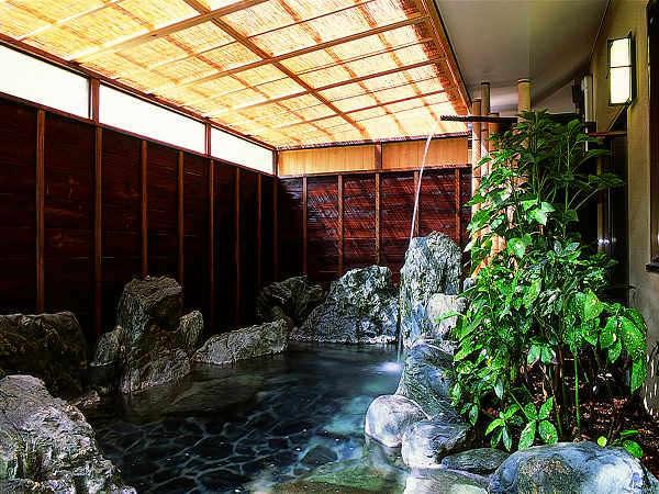 【大浴場(入替制)/一例】美人湯温泉の打たせ湯でお肌に磨きをかけてみて