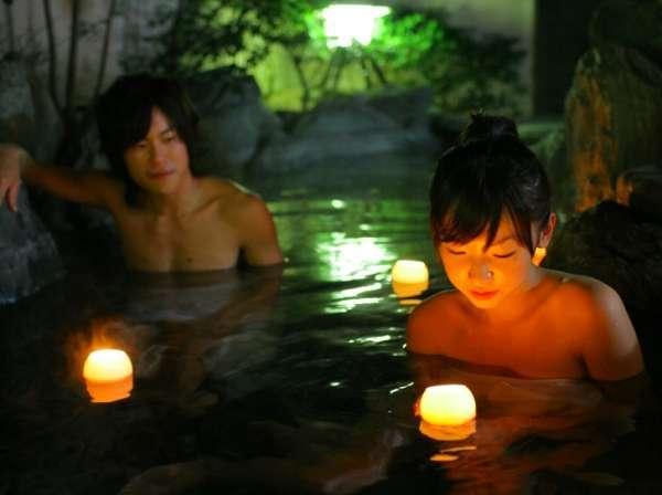 【貸切露天風呂/一例】ゆったりとした露天風呂で星空を眺めながら美人湯を堪能