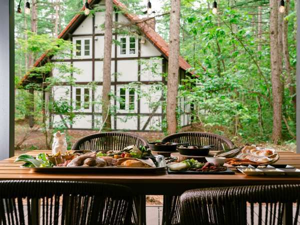 BBQ-極みコース-/屋外テラスで召し上がれ【お食事一例】