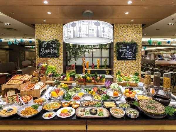 地下1階『オリンピア』の和洋ご朝食ビュッフェはメニュー豊富!