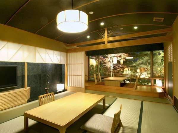 【別邸美悠】ゆったりとしたお部屋はいずれも温泉溢れる露天風呂付特別室