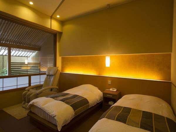 別邸美悠[庭園側]63平米客室内寝室エリアイメージ ※ベッドタイプ