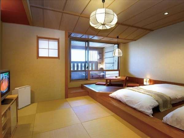 【悠々の階】和モダン客室(露天風呂付)