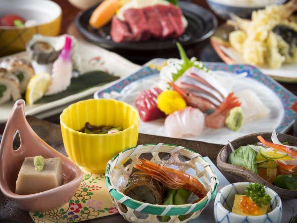 鮮度高い海鮮、里山の幸が盛りだくさんの会席料理!