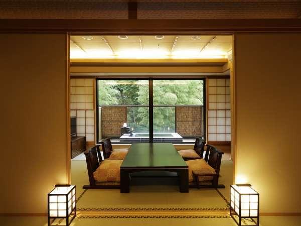 ◆露天風呂付き和室 44平米(喫煙/和室6畳2間)