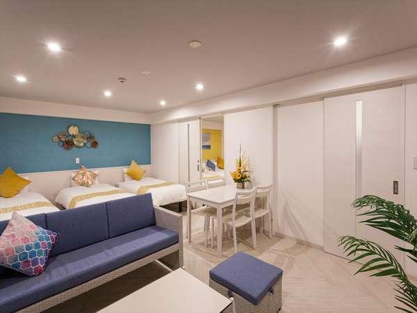 ふくぎスイート<5ベッド>ゆとりの50㎡ 定員1-7名様 Wi-Fi、キッチン、禁煙、上層階限定2室