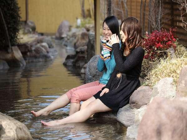 【 足湯 】別府湾を眺めながら、ゆっくりとした時間をお過ごしください