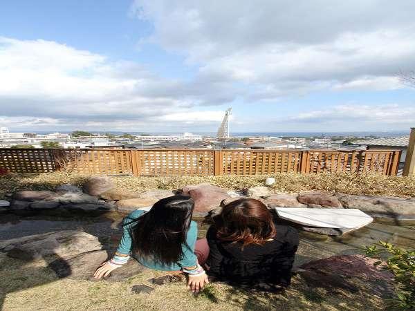 【 足湯 】足湯から眺める青い海・蒼い空をお楽しみください