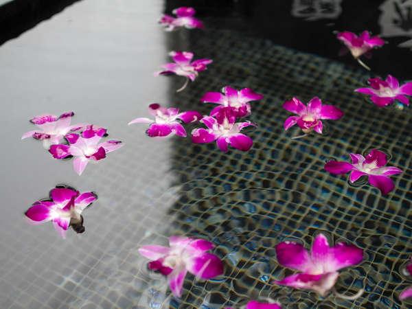 【記念日のメモリアルプラン】バスフラワー お風呂に浮かべてお楽しみいただける。