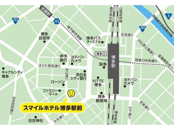 博多駅博多口より徒歩約4分