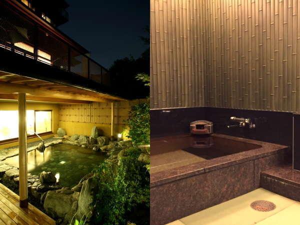 本館の大浴場・露天風呂また貸切家族風呂(別途有料要予約)もご利用いただけます。