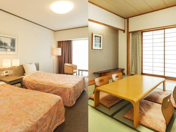 和室10畳+洋室(最大6名様)のコネクティングルーム。グループや3世代でのお客様に大変人気です。