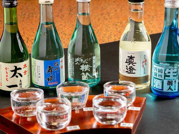 利き酒セット(諏訪の日本酒五大蔵元)