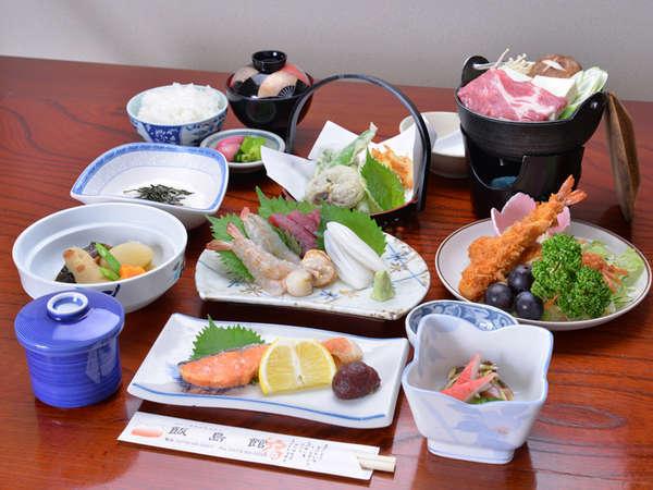 *お夕食一例(全10品)/季節の旬と地元の食材を活かした、心温まる家庭料理をお愉しみ下さい。