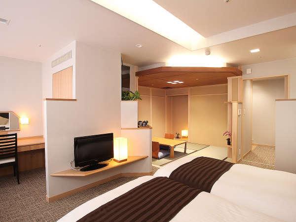 【迎賓特別室和タイプ】ツインベッド&畳の寛ぎ空間《定員4名 36平米 禁煙》※お部屋はお任せとなります