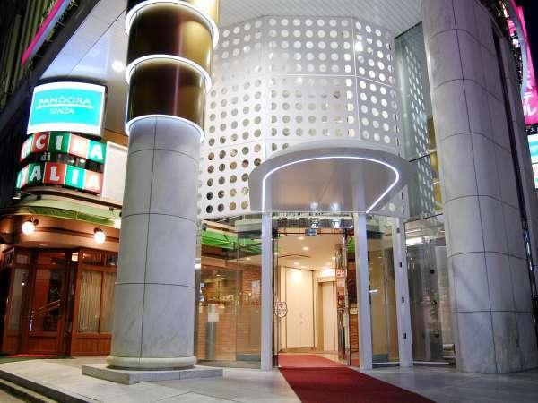 【ホテル外観】新橋駅徒歩すぐの好立地で初めての東京観光でも安心♪