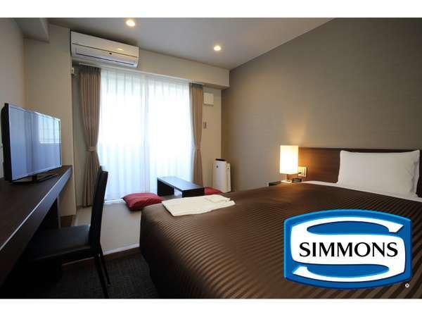 ハイクオリティな就寝をサポートするシモンズベッドを全室に配置。(シングルルーム)