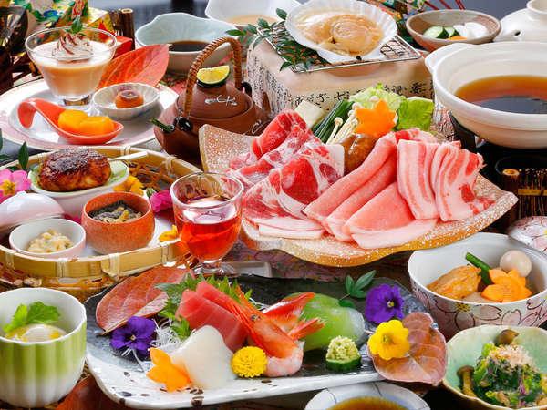 群馬県産の豚を使用した豚しゃぶ。自家製のタレでさっぱりと美味しい♪