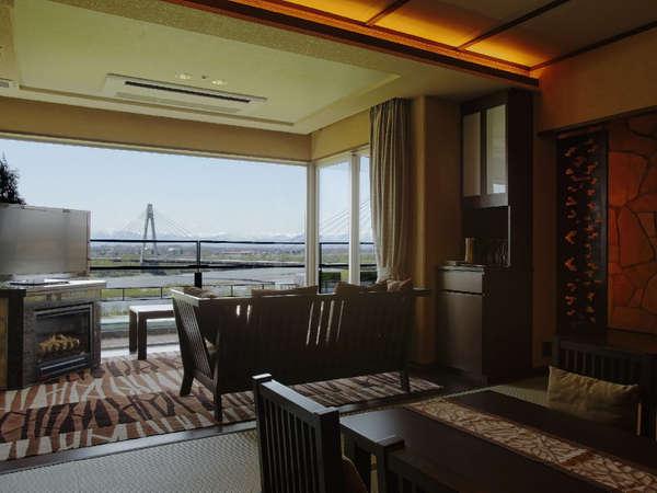 【豊洲亭】モダンスイートA/最上階に位置し、眺めも最上級