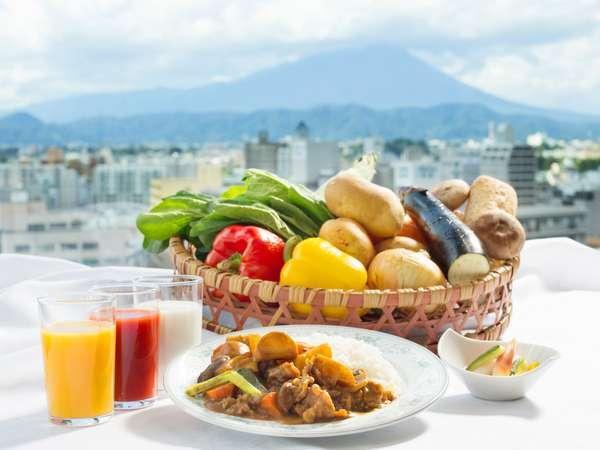 岩手山が一望出来る朝食