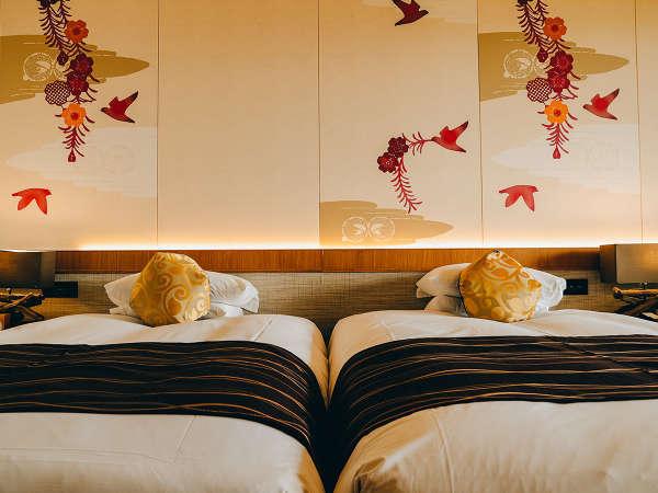 【スタンダードツイン(オーシャンウィング)】ベッド2台はハリウッドツインで添い寝も安心