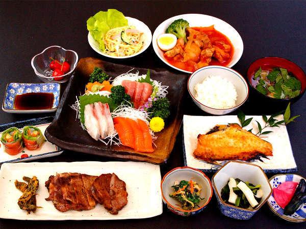 仙台名物牛タン+三陸の刺身プラン【夕食一例】