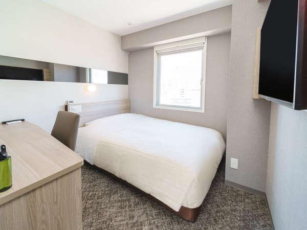 【全室禁煙】スタンダードルーム眠りを追及した150cm幅のワイドベッドと適度な硬さのマットでぐっすり
