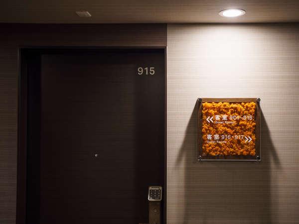 客室階廊下の風景