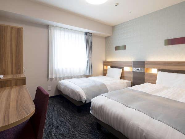 ◆2ベッド◆ツインスタンダード1◆20~21平米◆123cm幅ベッド2台