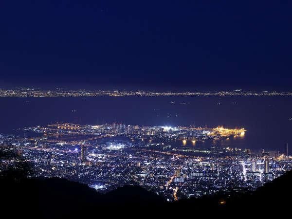 【日本新三大夜景】眼下には神戸~大阪の夜景が広がります。飽きることない絶景に酔いしれる時を。