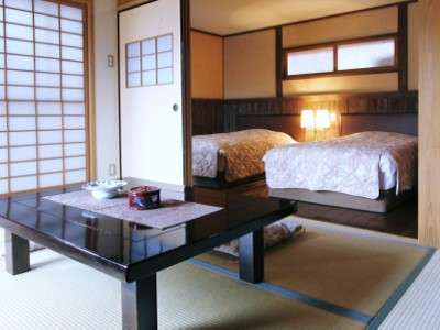 【客室】全8室が露天付和洋室♪到着してすぐゴロンと寝ころぶこともできます。