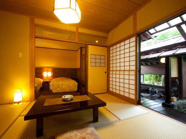 【客室】2間つづきの和洋室